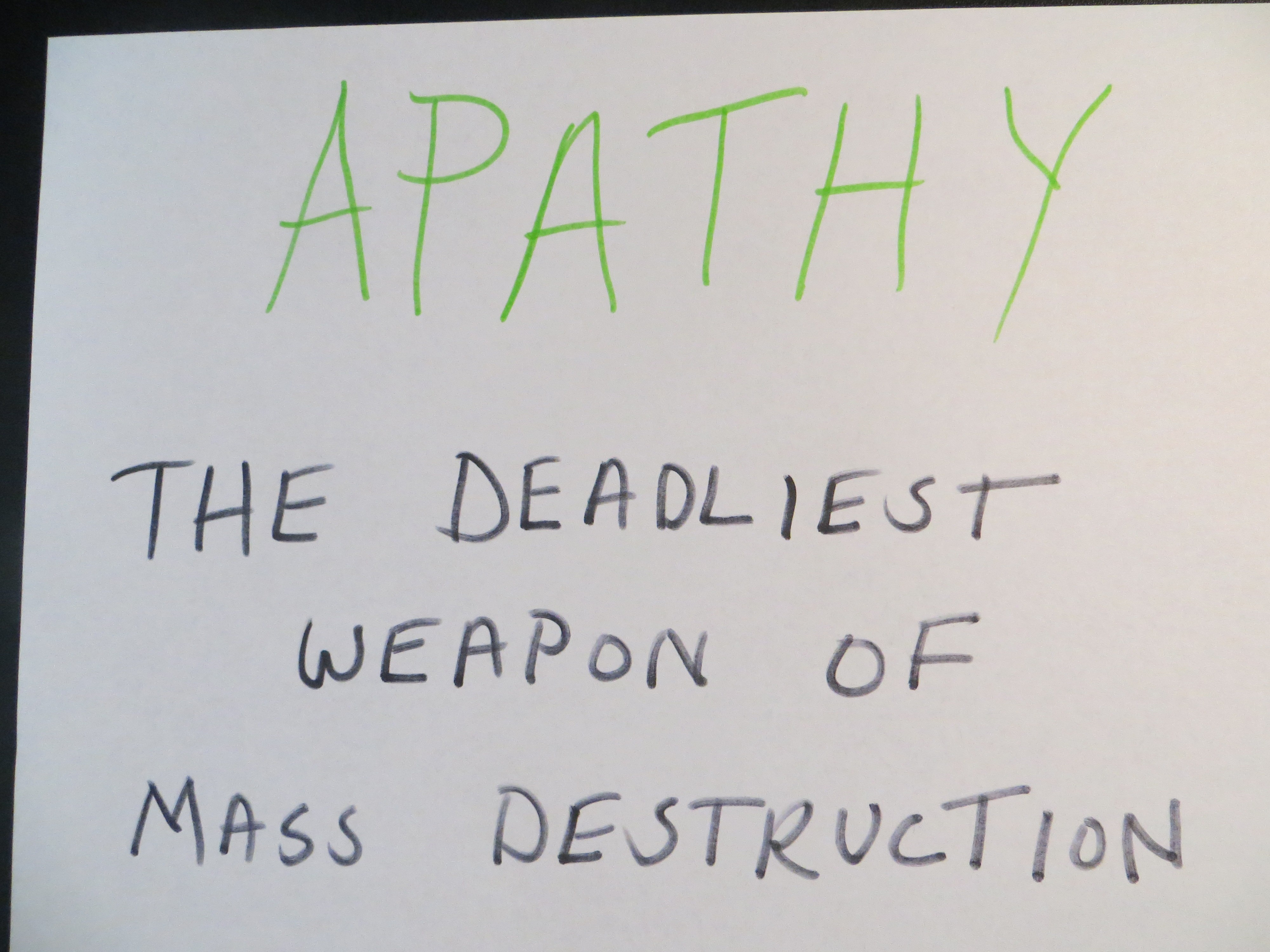 What is apathy 56